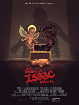 The Binding of Isaac Rebirth Movie style poster by LeePfenninger