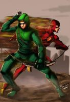 The Flash and The Arrow by TheMikidusBalox