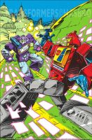 Transformers Regeneration one #95 retro cover by GuidoGuidi