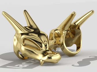 Charizard Head Ring by laczabetyar
