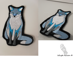 Sitting Bluefox Patch by Whyte-Raven