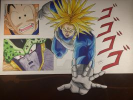 Trunks Ultra Super Saiyan Cell Saga by MahnsterArt