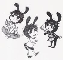bunny cut outs by imjustellingyou