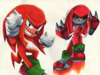 Bday GIFT Knux and Metal by 7marichan7