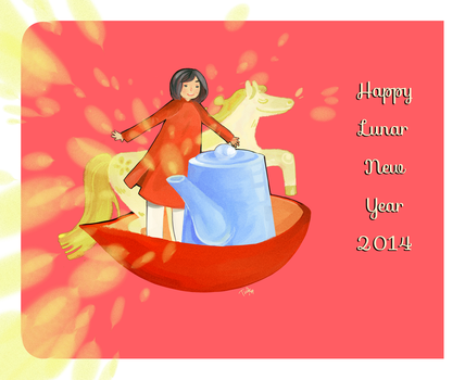 happy lunar new year 2014 by bluenblackst