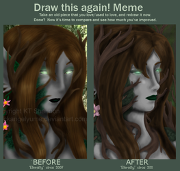 Before and After Meme: Eternity by blackangelyume