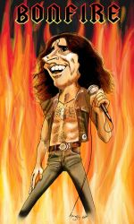 Bon Scott caricature by kyungjin74