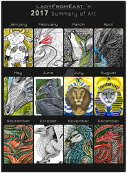 2017 Art Summary by LadyFromEast