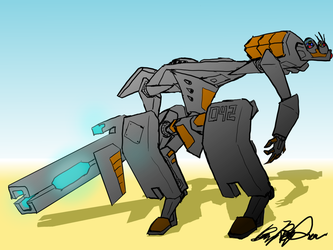 Stealth Mech by illogictree