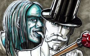 Dr Jekyll and Mr Hyde by eldesertor