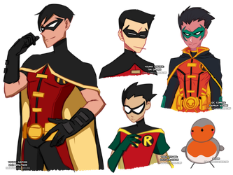 Robin Doodles by DragonChaser195