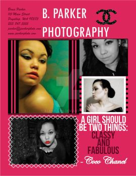 Photography Poster Advertisement [Chanel Theme] by Alana-Lyn