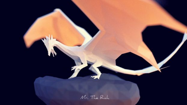 Paper Dragon by EmjeR
