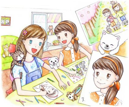 The little artists by MaryMiao