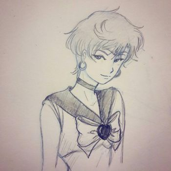 Sailor Uranus sketch by LorvicMeow