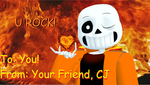 Valentines Day Card #11 (Lava Rock) by cjc728