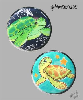 turtle buttons by GirlMonsterAlice