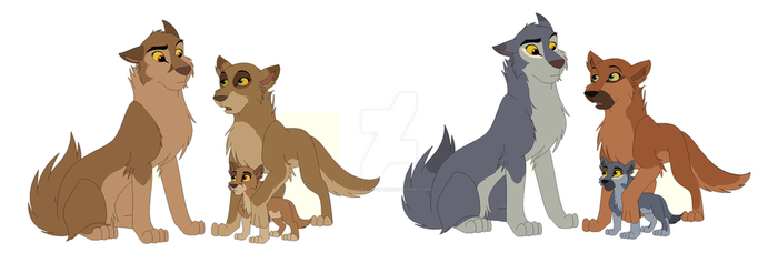 Wolf Family Adopts (GONE) by Claire-Cooper