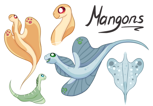 Chigon critters - Mangons [Open Species] by KetLike