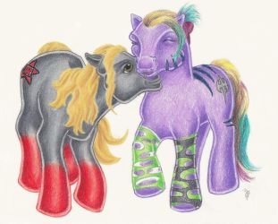 Jedam ponies by jadecorrine