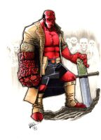 Hellboy by Shawn-Langley