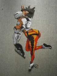 Tracer Overwatch - Etsy Perler Beads Commission by Cimenord