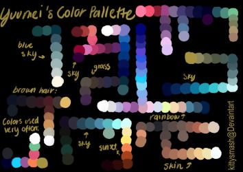 Yuumei Color Palette by kittysmash