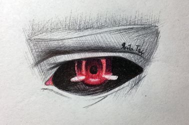 Kaneki Eye Doodle by MoonwalkingHorse