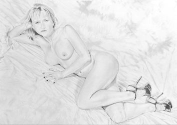 Drawing of 'Chrissie 04 01 1w', by Chrism-Erotic by stevie-wydder