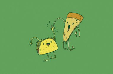 TACO PIZZA HIGH FIVE by RYE-BREAD