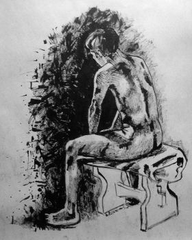 life drawing man by omppu