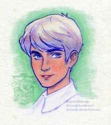 Scorpius Malfoy portrait by Dinoralp