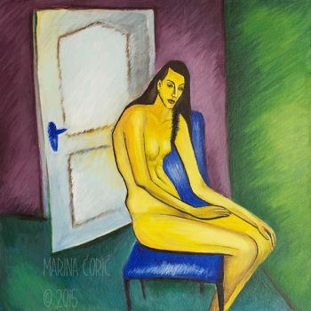 Yellow Figure (A la Kirchner) by Stardust-Splendor