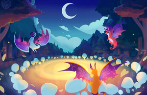 Faerie Dragons by Hollulu