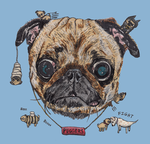 Owning a Pug [T-shirt design] by JackSephton