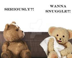 Ted vs Snuggle by quintajo