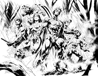Double page from Titans 4- on the newsstands now! by aethibert