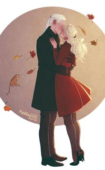 Lucius and Narcissa by upthehillart