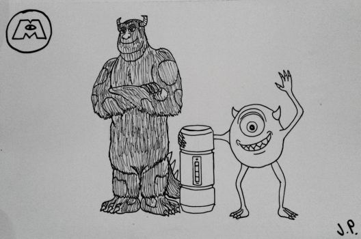 Monsters Inc.: Sulley and Mike by Jpstudios11