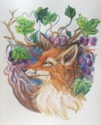 Aesop 10: Fox and Grapes by allthingswillbe