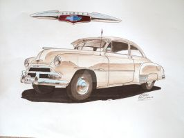 1951 Chevrolet Drawing by prestonthecarartist