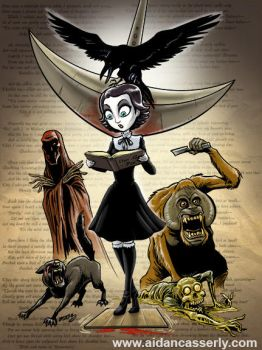 EDGAR ALLAN POE Girl by DadaHyena
