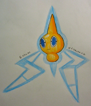 Rotom Drawing by Nijihamu-can