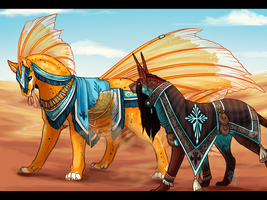 Desert Deities - [Training 2] by Whitefoxfire