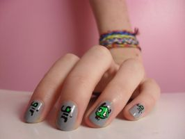GIR Nail Art by animalscrosshere