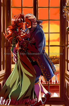 Emily and Louis - At the Window by hinomars19 by RedPassion