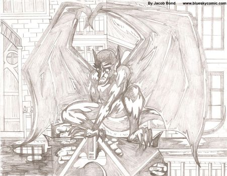 Blue Sky:Chiro Perching-Pencil by jmbond01