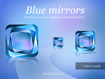 Blue Mirrors icon by i-love-icons