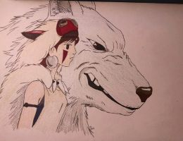 Princess Mononoke by Blabbercat