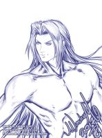 Sephiroth for Sketchtember day05 by Washu-M